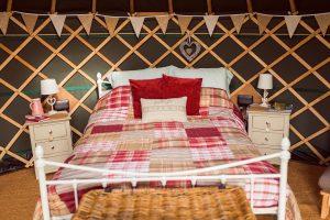 Cheshire Farm Yurts Bed