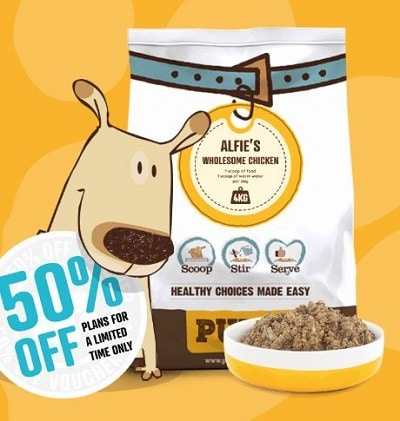 pure dehydrated dog food