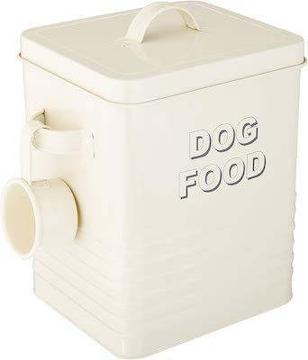 Lesser and Pavey Metal Dog Food Container