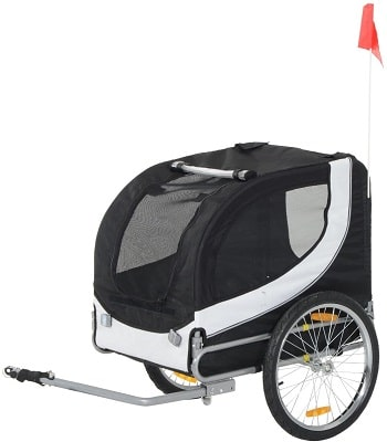 PawHut Folding Dog Bike Trailer