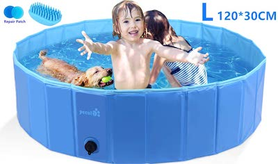 Pecute Paddling Pool for Dogs