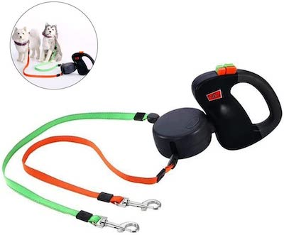 KOBWA 2 Dog Retractable Leash