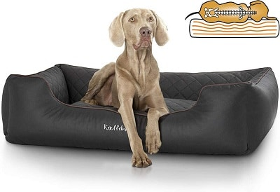 Knuffelwuff Laser Quilted Synthetic Leather Orthopaedic Madison Dog Bed