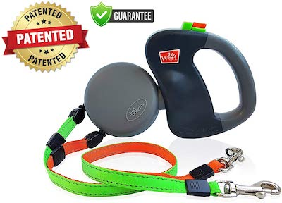 Wigzi GO Dual Doggie Retractable Lead