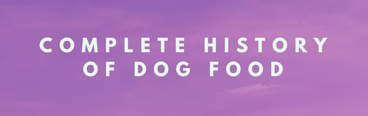 complete history of dog food