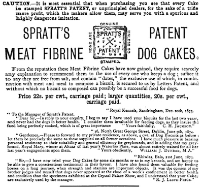 spratt's biscuit advert