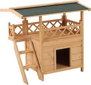 Pawhut Luxury Weatherproof Dog House and Shelter